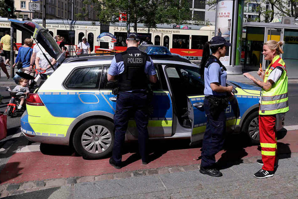 Frau wird an Prager Straße angefahren, Autofahrer flüchtet