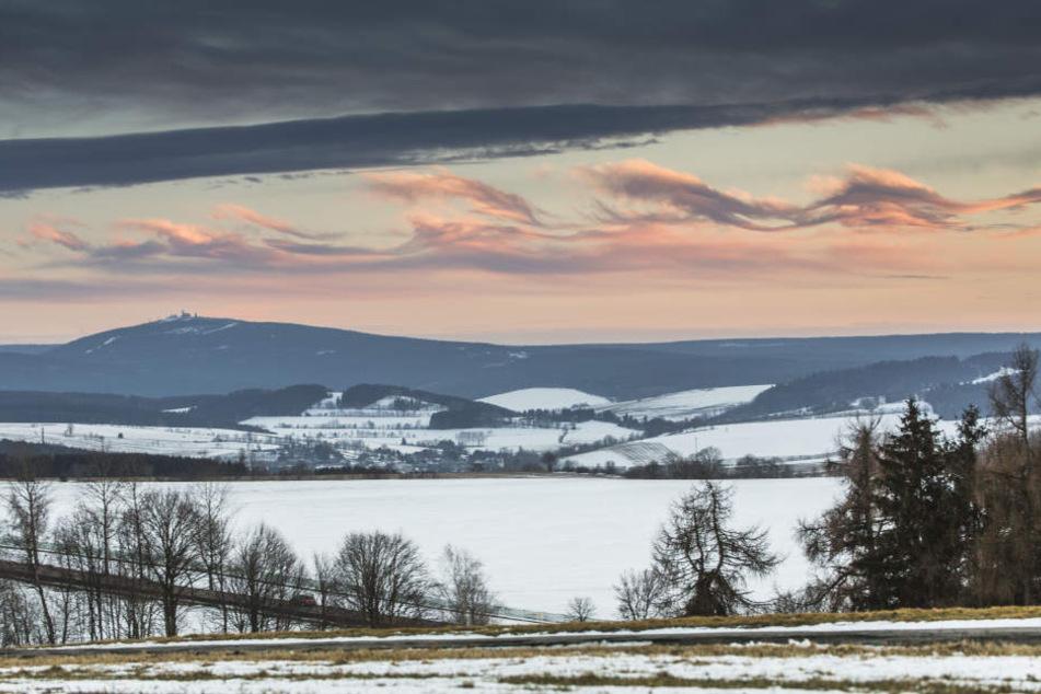 Am Donnerstagabend  waren über dem Fichtelberg sogenannte Kelvin-Helmholtz-Wolken zu sehen.