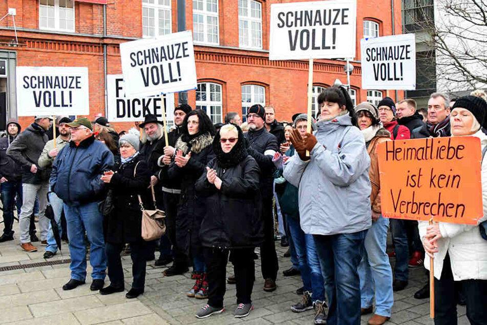Immer wieder wird in Cottbus gegen Zuwanderer demonstriert.