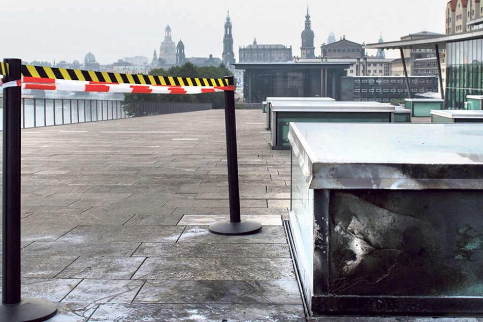 Die zweite Bombe führte zu über 21.000 Euro Schaden am Kongresszentrum.