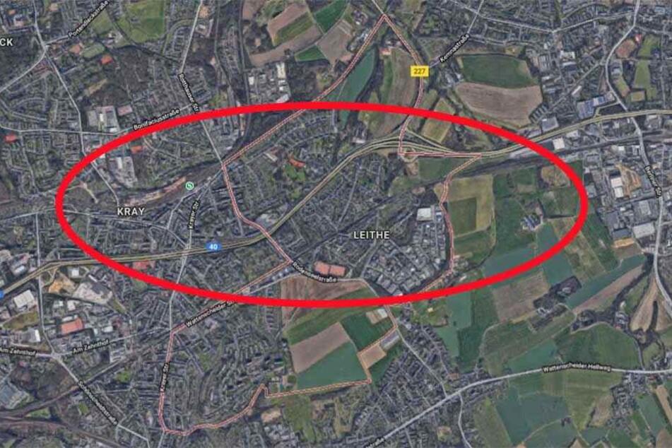In diesem Bereich der A40 gilt die Sperrung.