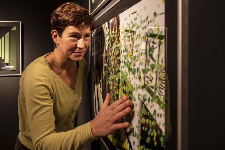 1000 leuchtende Blätter sollen das Tietz zur neuen Dauerausstellung schmücken. Museumskustodin Thorid Zierold (41) präsentiert die Pläne für 2025.