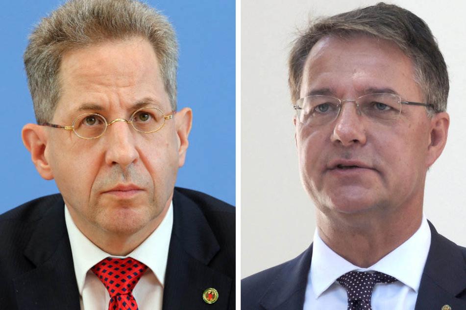 Hans-Georg Maaßen (l) wird Gunther Adler (r) als Staatssekretär beerben.