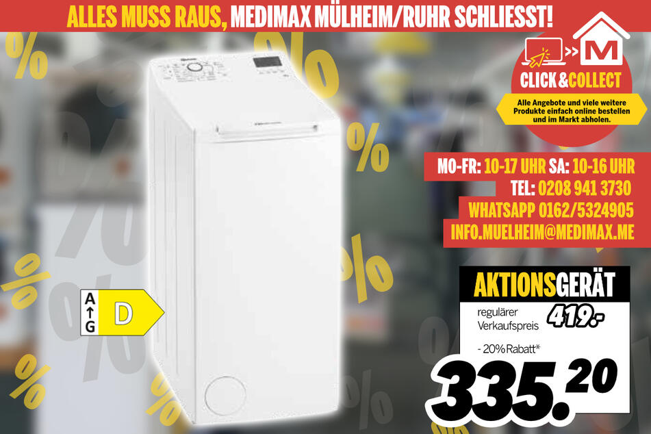 Waschmaschine von Bauknecht für 335,20 Euro