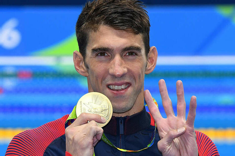 Vier Mal in Folge war Phelps in einer Einzeldisziplin erfolgreich.