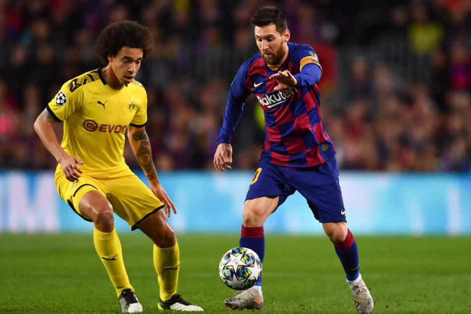 Weder Axel Witsel noch Lionel Messi werden Dienstagabend die Champions-League-Hymne auf dem Platz hören können. Beide sind derzeit verletzt.