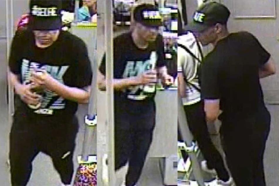 Die Polizei sucht mit Bilder aus der U-Bahn-Überwachungskamera diesen Mann.