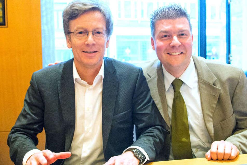 Die SPD hat einen Nachfolger für Andreas Dressel (r.) gefunden.