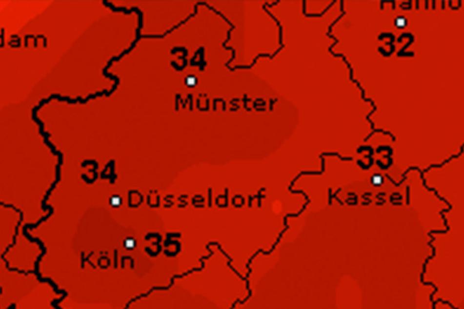Mittwoch und Donnerstag wird es noch einmal richtig heiß in ganz NRW.
