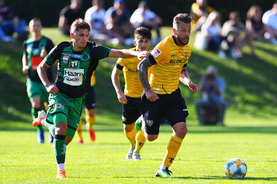 Auch Patrick Ebert (r.) konnte die SGD-Niederlage gegen Wacker Innsbruck nicht verhindern.