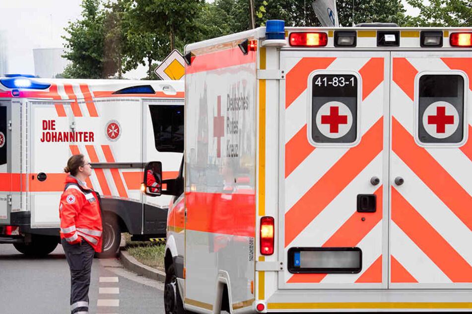 Rettungskräfte im Einsatz. (Symbolbild)