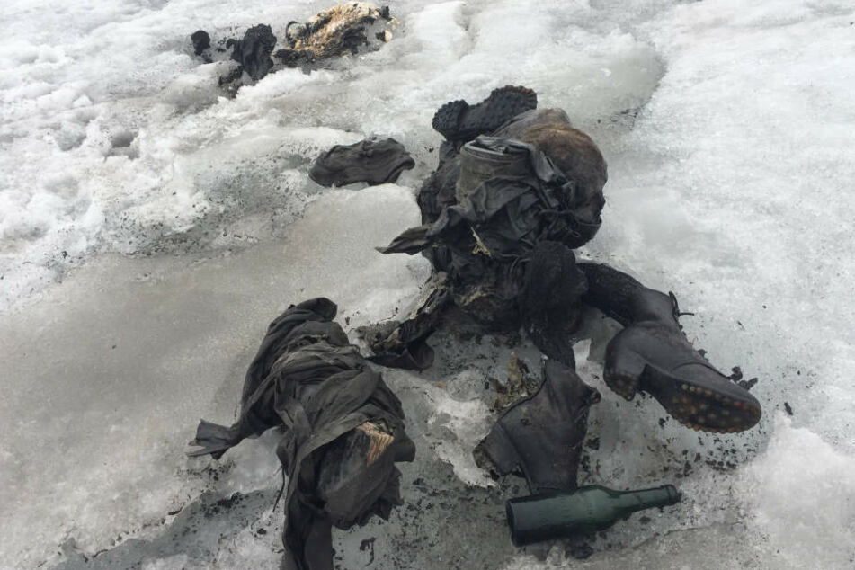Nach 75 Jahren: Totes Pärchen im Gletscher gefunden