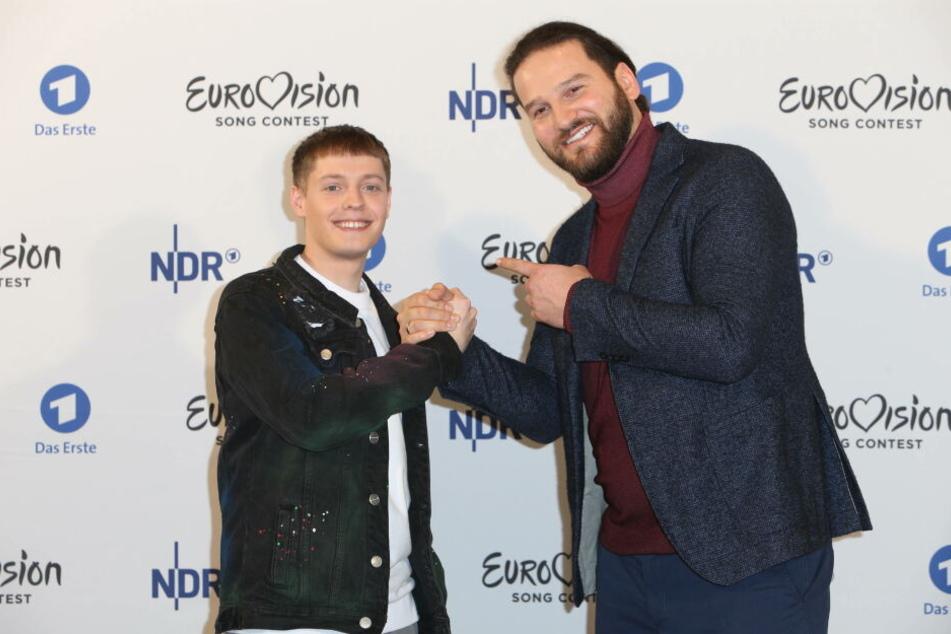 """Der österreichisch-bulgarische Produzent und Songwriter Boris Milanov (r.) schrieb """"Violent Thing"""". In den letzten vier Jahren landeten seine Kompositionen beim ESC immer in den Top 7."""