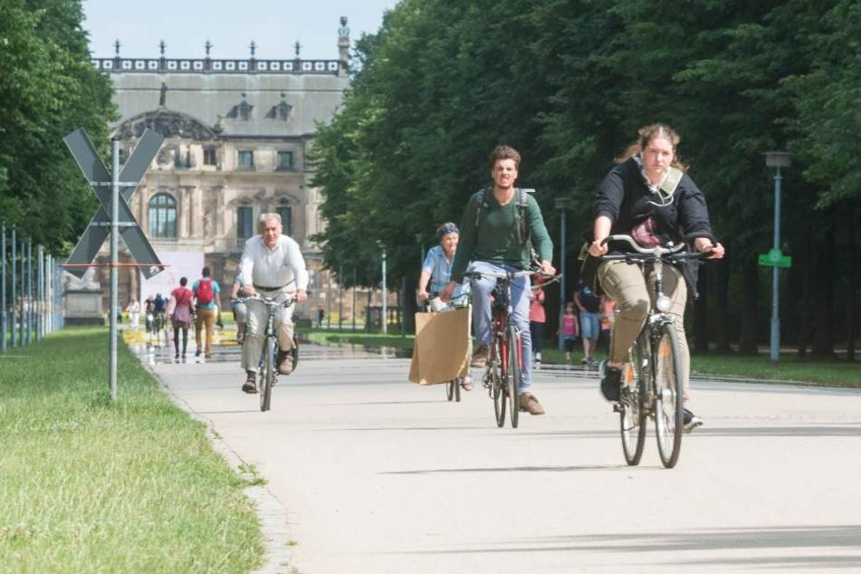 Die Radschnellweg-Route soll auch durch den Großen Garten führen.