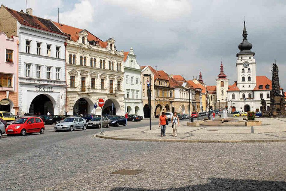 Die Altstadt von Zatec. In der böhmischen Stadt, kurz vor der sächsischen Grenze, steht Scarlett Johansson ab heute vor der Kamera.