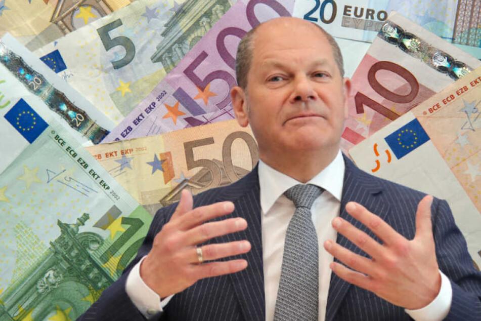 Finanzminister Olaf Scholz (60, SPD) plädiert für 12 Euro Mindestlohn. (Bildmontage)
