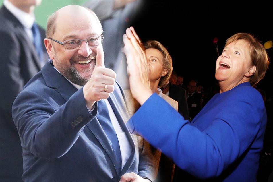 SPD vermeldet sieben Stunden lang den Sieg von Schulz - Vor dem TV-Duell!