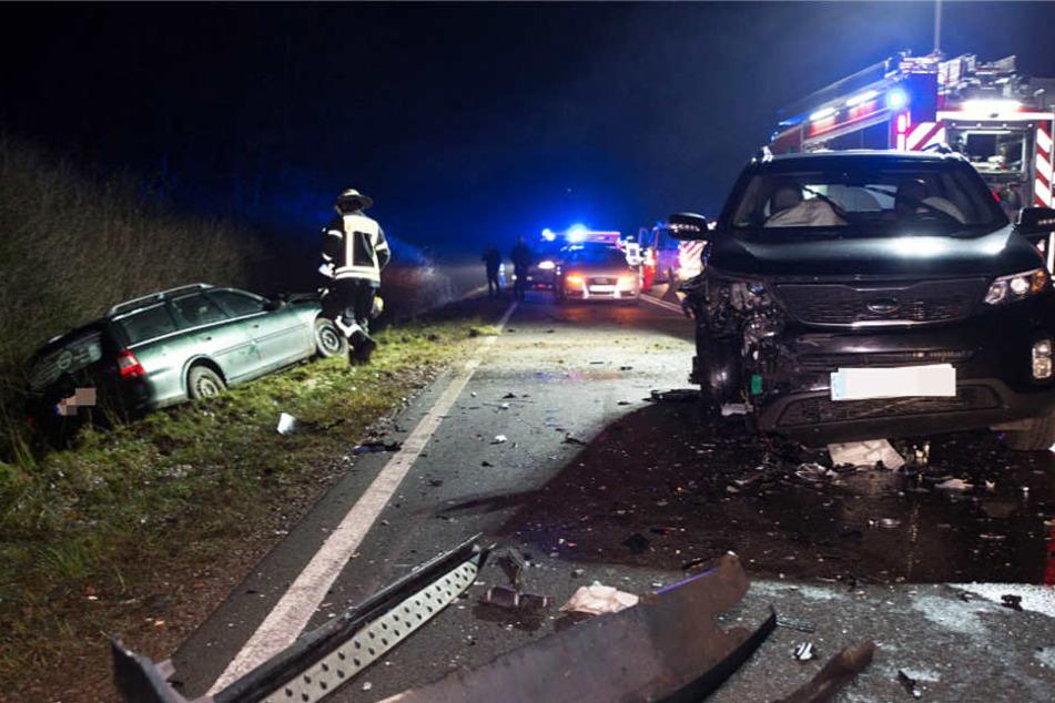 Der Unfall ereignete sich am Dienstagabend auf der Bundesstraße 417.