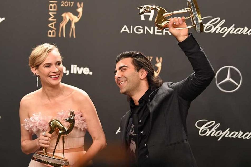 """Regisseur Fatih Akin und Hauptdarstellerin Diane Kruger bekamen für das NSU-Drama """"Aus dem Nichts"""" den Sonderpreis der Jury."""