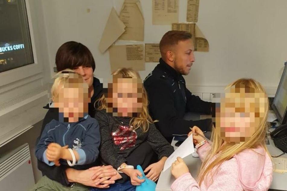 Die Bundespolizisten brachten die Familie zur Dienststelle.