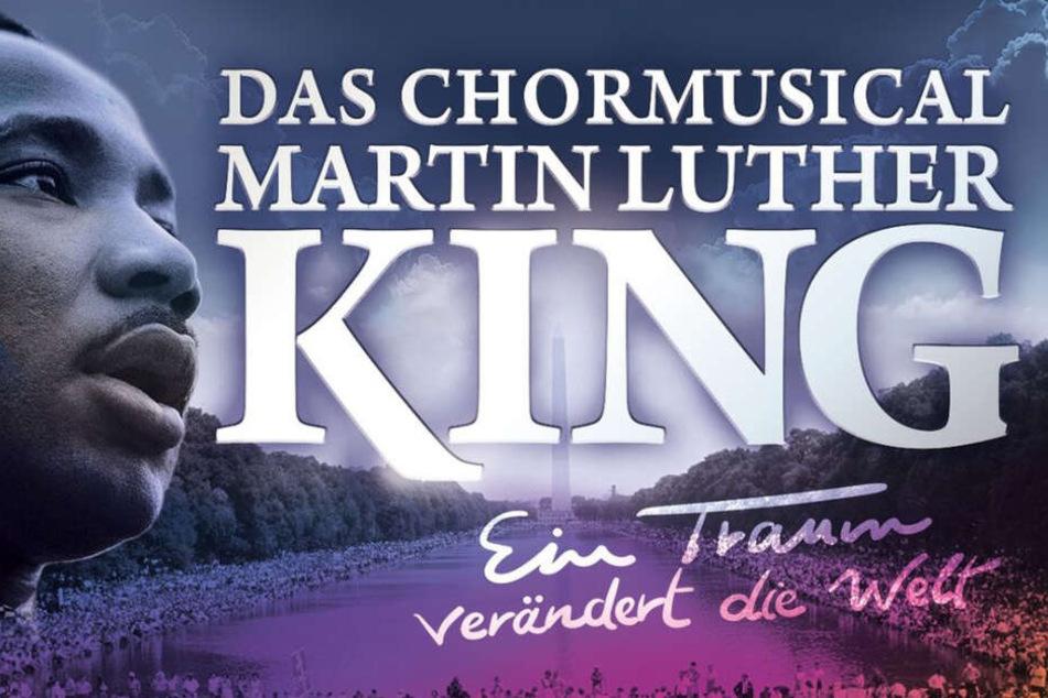 """Das Musical """"Ein Traum verändert die Welt"""" soll den Zuschauern Kings Motivation und seine Träume näher bringen."""