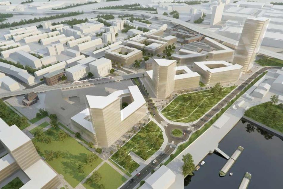Das geplante Wohn- und Gewerbeareal liegt am Mühlheimer Hafen, nah an der Messe Köln.