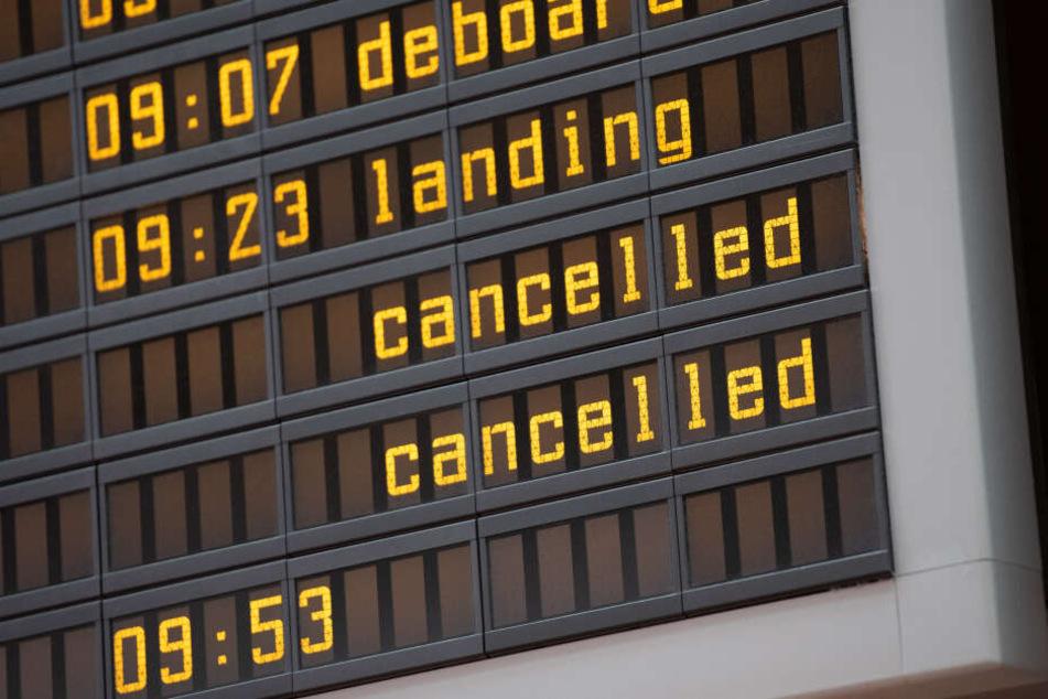 Auch am Flughafen Berlin-Tegel wurde gestreikt.