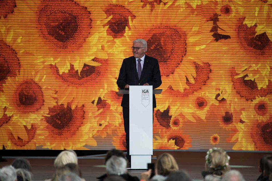 Bundespräsident Steinmeier spricht vor 5000 Gästen.