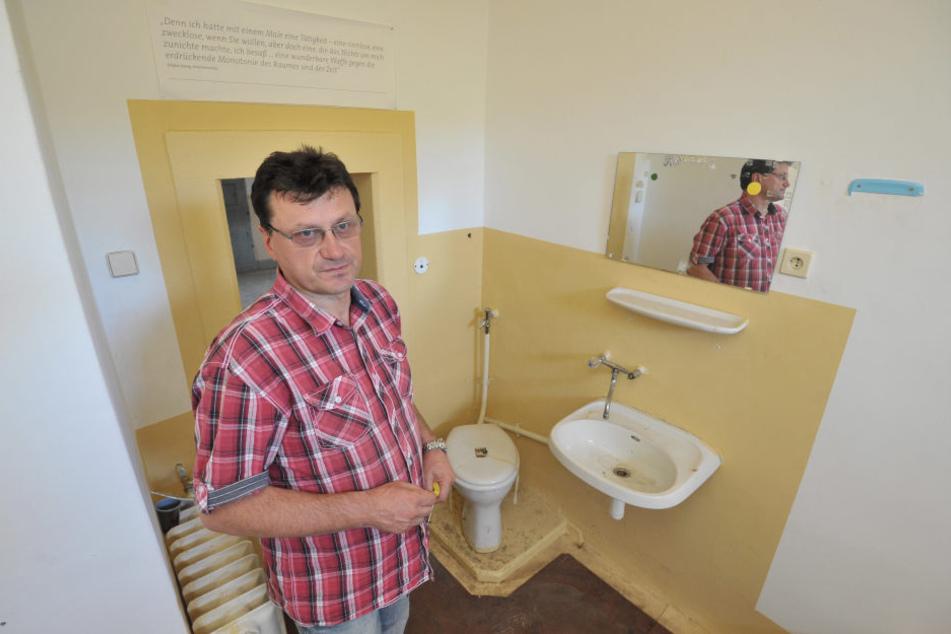 Maik Reinhardt saß selber im Kaßberg-Knast und ist entsetzt, dass aus dem Gefängnis Wohnungen gemacht werden sollen.