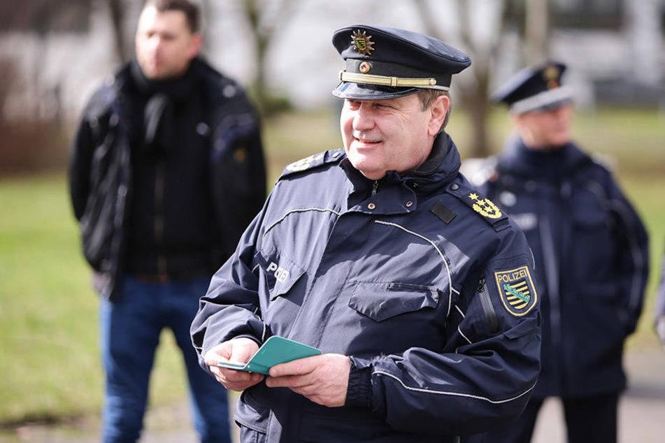 Leipzigs Polizeipräsident Bernd Merbitz sprach in Borsdorf auf Einladung der CDU über die Kriminalität in Leipzig und Umgebung.