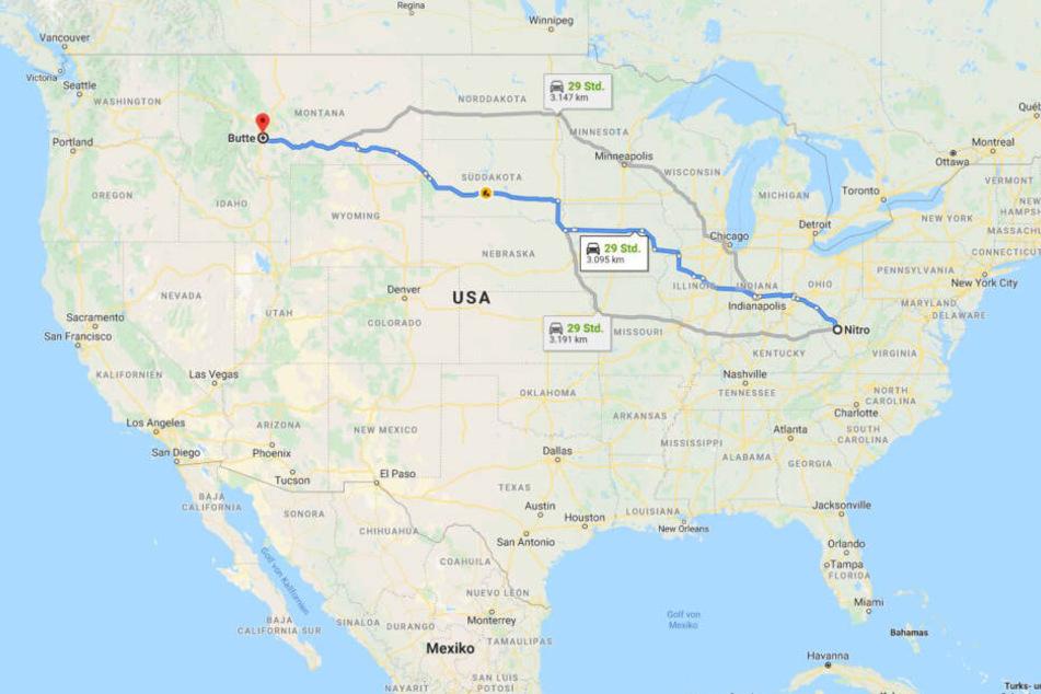 Über 3000 Kilometer von Ost nach West: die Reise des Hundes.