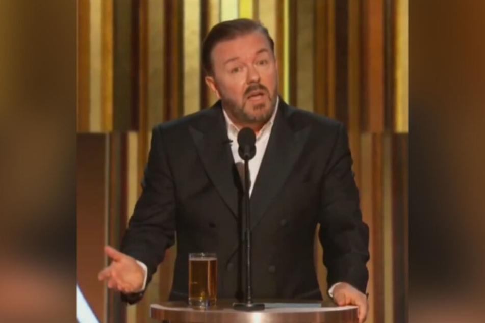 Ricky Gervais lief bei der Verleihung der 77. Golden Globe Awards zu satirischen Hochtouren auf.