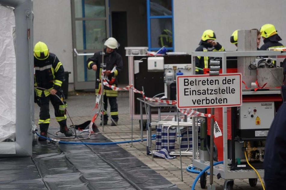 """Das """"Röhrscheidtbad Gesundbrunnen"""" ist am Freitagvormittag evakuiert worden."""