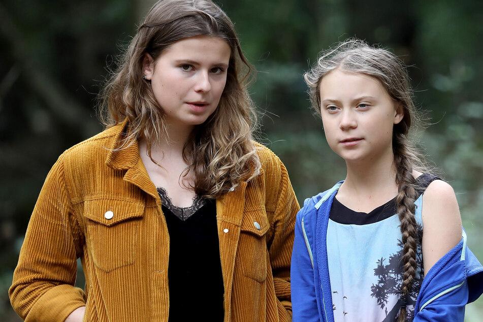 Die zwei prominentesten Gesichter von Fridays for Future: Luisa Neubauer (25, l.) und Greta Thunberg (18) demonstrieren am Freitag in Berlin. (Archivbild)