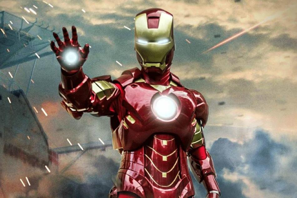 Fast wie im Actionfilm: Rocco Zschuppe (31) in seinem Iron Man-Heldenanzug.