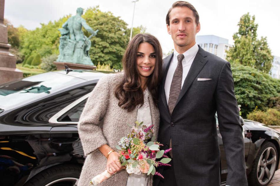 Vor drei Jahren haben Lilli Hollunder und René Adler standesamtlich geheiratet.