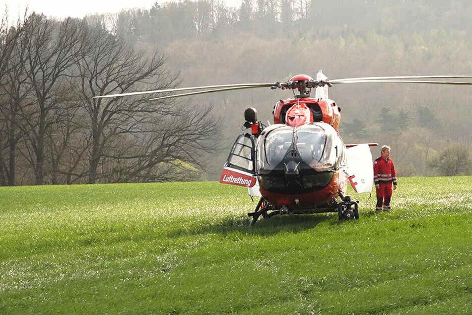 Ein Helikopter-Einsatz war notwendig.