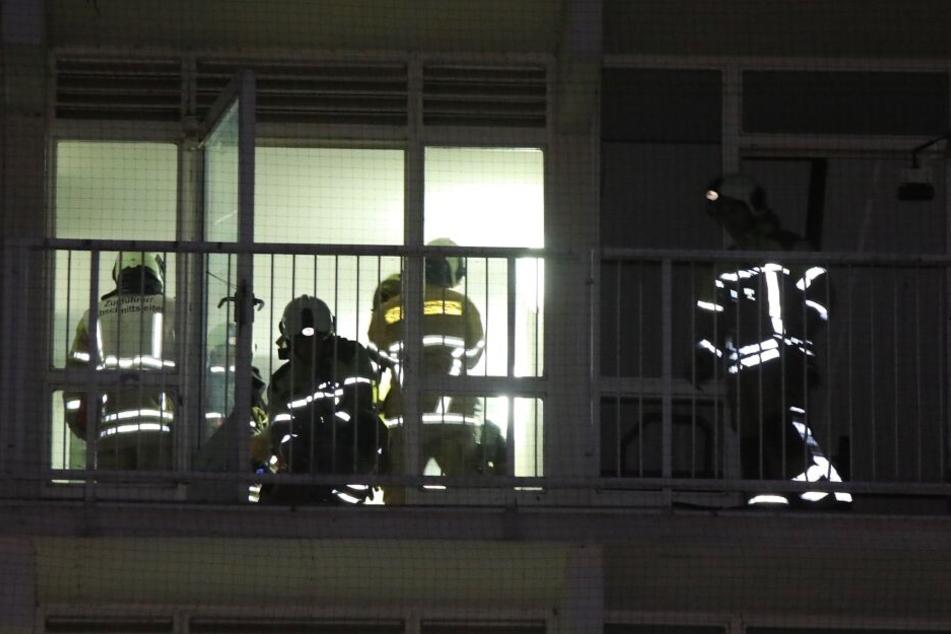 Kameraden der Feuerwehr im Einsatz.
