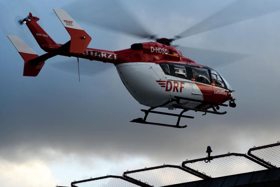 """Bei der Rettung """"in letzter Sekunde"""" war auch ein Hubschrauber im Einsatz. (Symbolbild)"""