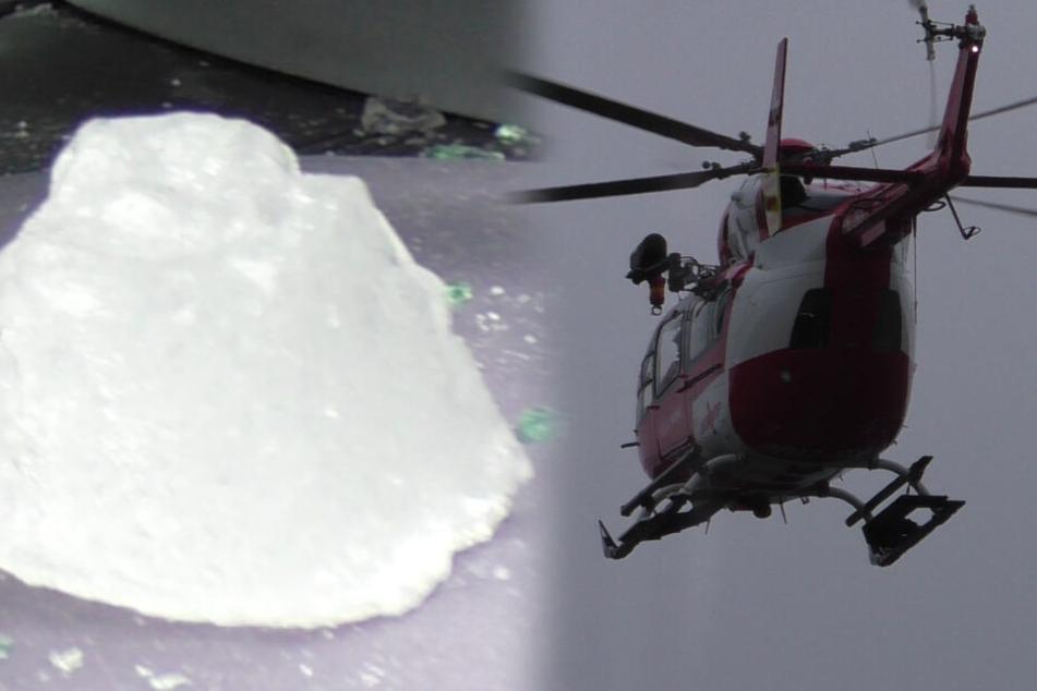 Lkw verliert fette Eisplatte: Mehrere Verletzte