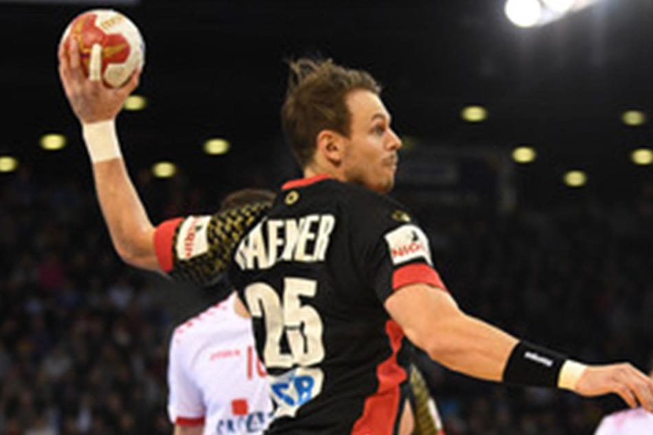 Kai Häfner setzt zu einem Wurf an.