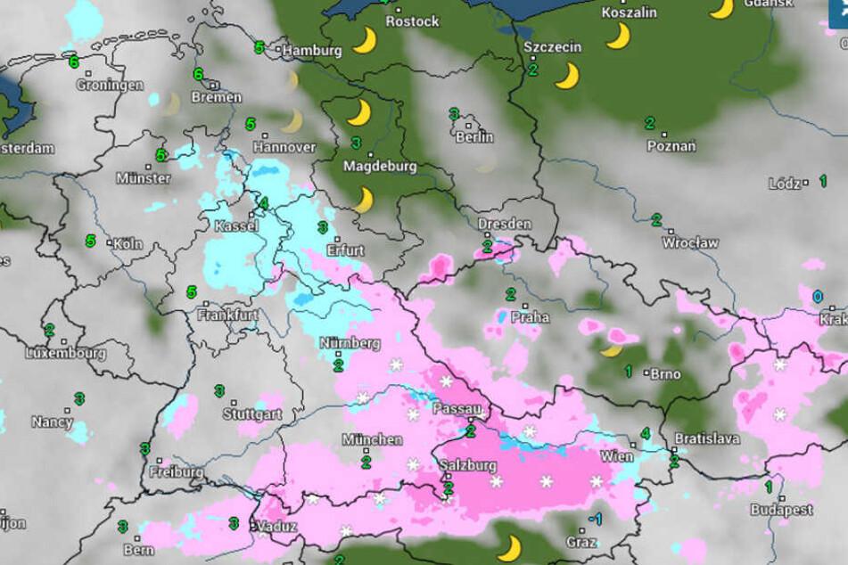 In den höheren Lagen soll es bis Dienstag durchschneien.