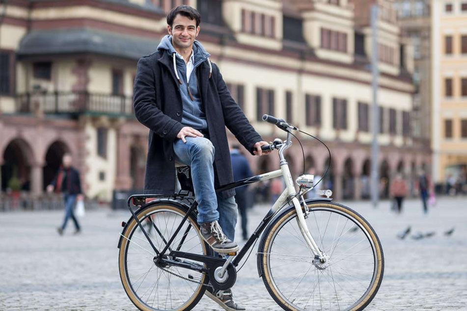 Roman Petermann (35) will kein großer Star werden. Er genießt es vielmehr, unerkannt durch Leipzig spazieren zu können.