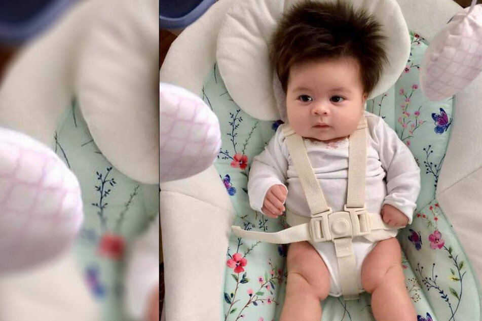 Zwei Monate alt und schon so eine krasse Frisur.