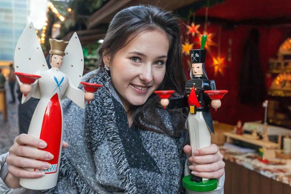 TAG24-Reporterin Isabel Sophie Möller (19) mit traditionellen Engel und Bergmann (103 Euro).