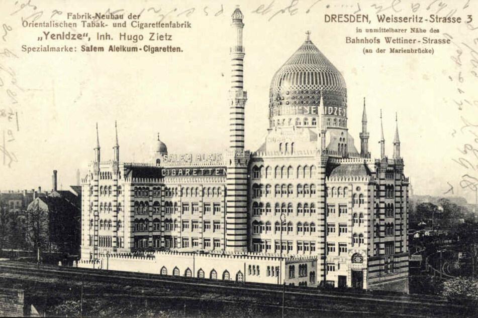 """Der Neubau der """"Tabakmoschee"""" im Jahre 1909 war im alten Dresden ein riesiger Aufreger."""