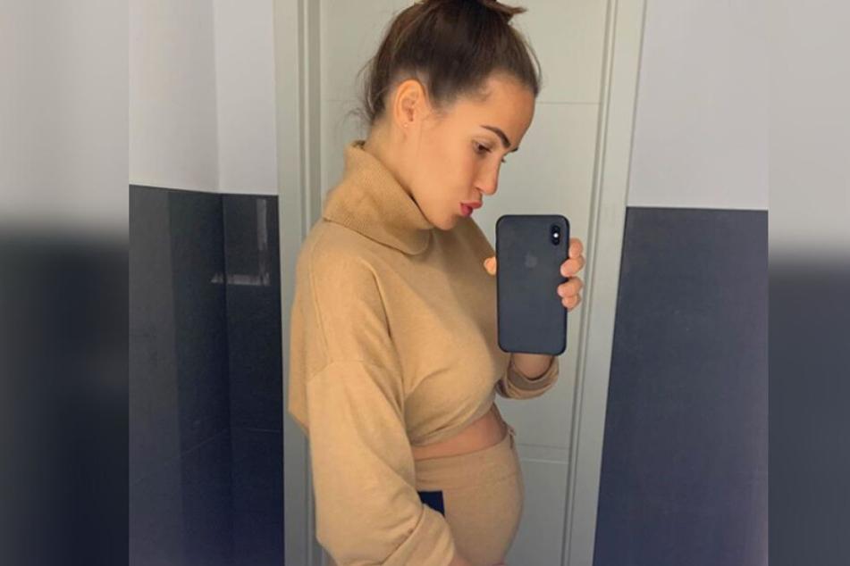 Angelina Heger erwartet ihr erstes Kind.