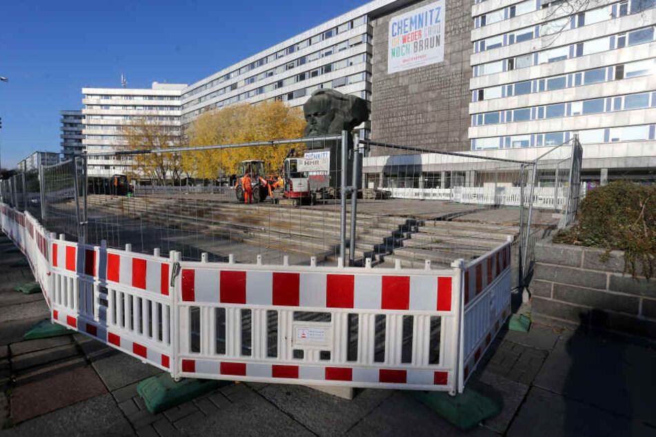 Die Arbeiten rund um das Marx-Monument dauern länger, als eigentlich geplant.