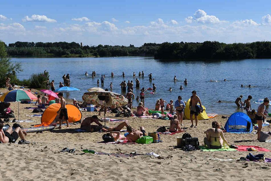 Der Lippesee ist ein beliebter Ort für Schwimmausflüge im Sommer.