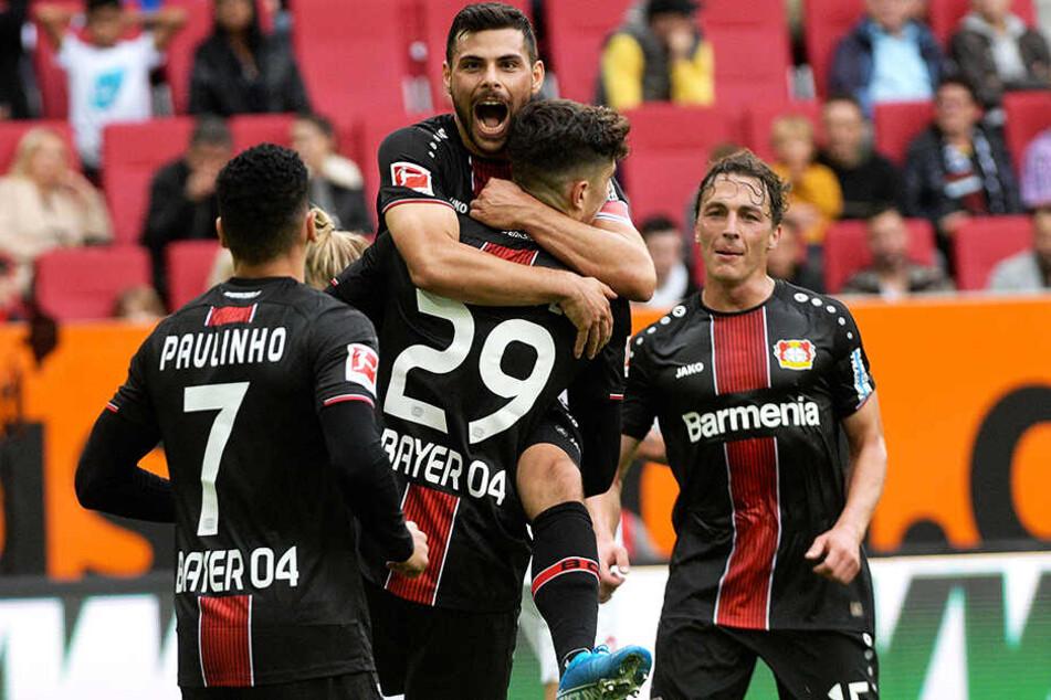 Bayer Leverkusen hat die deutliche 0:4-Packung in Dortmund und das 1:2 gegen Lok Moskau mittlerweile verkraftet und die letzten zwei Spiele deutlich gewonnen.